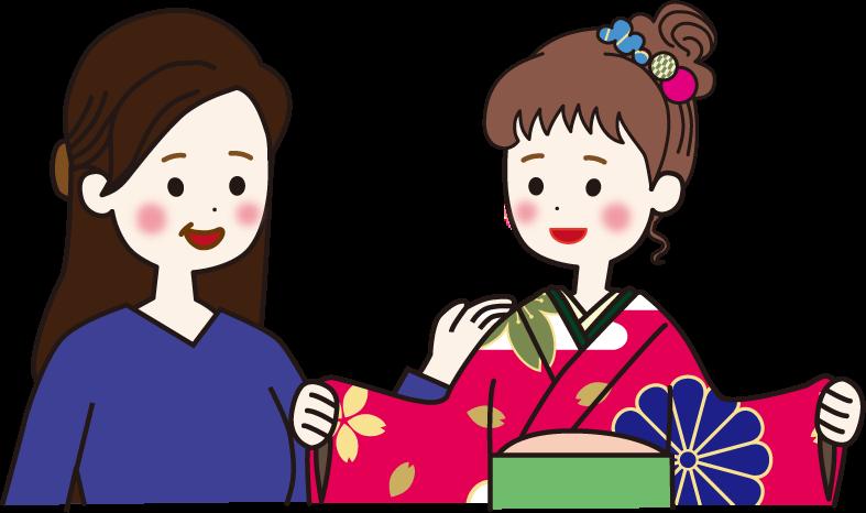 ママ振袖イメージイラスト