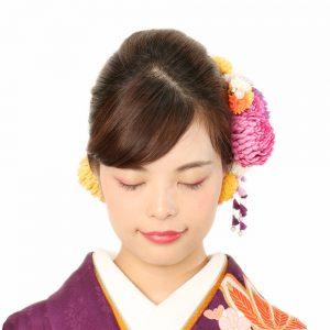 成人式 髪型 振袖 ヘアアレンジ 前髪 前髪アレンジ 斜めバング
