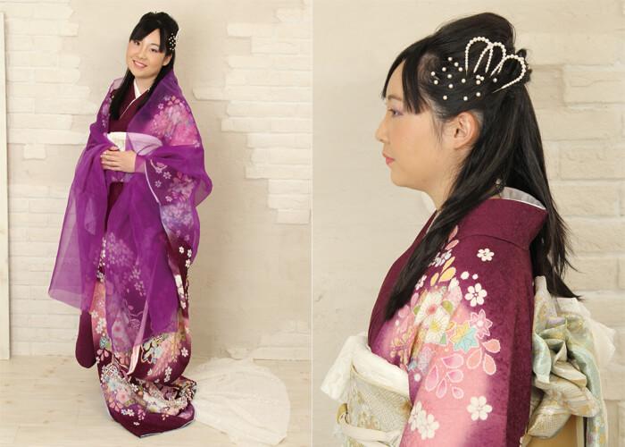 振袖 ファッションショー お引きずり 天女の羽衣