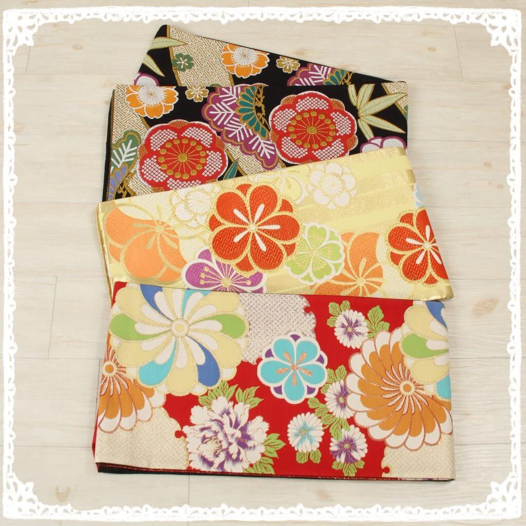 カラフルな袋帯