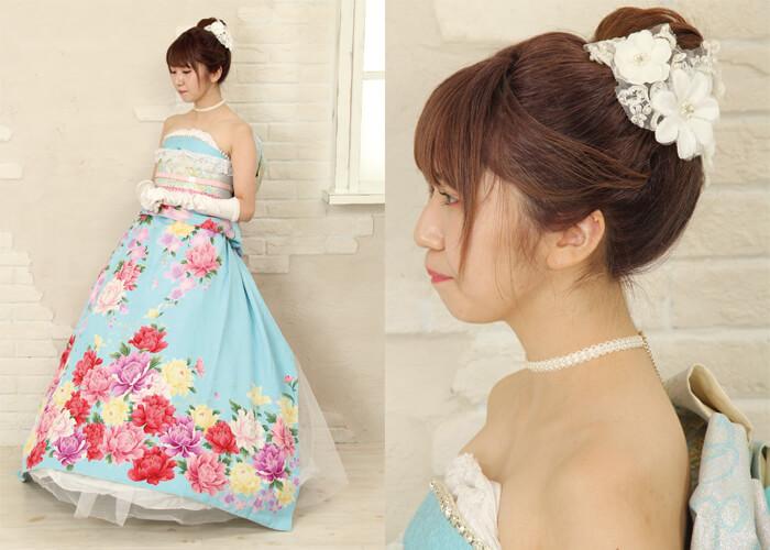振袖 ファッションショー ドレス着付け シンデレラ