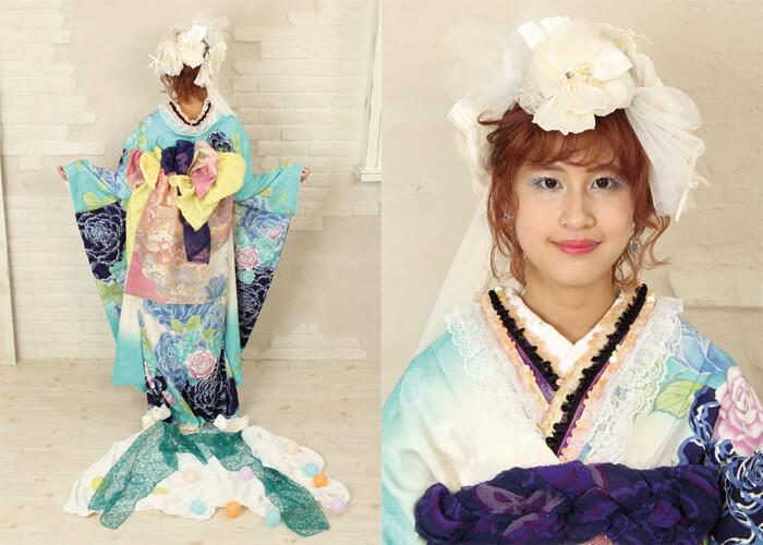 振袖 ファッションショー アリエル 人魚姫