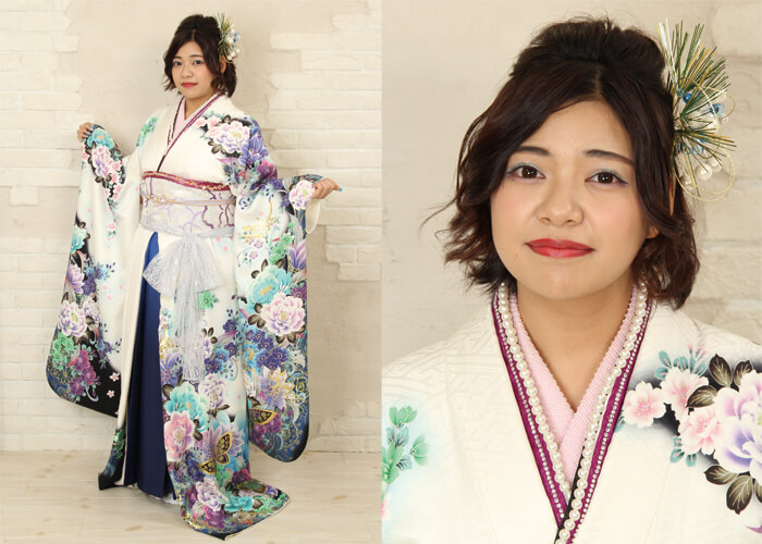 振袖 ファッションショー 袴 お引きずり 乙姫