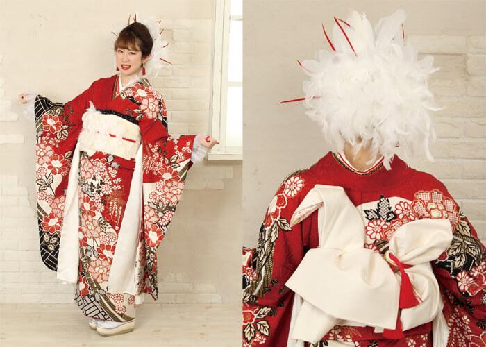 振袖 ファッションショー 鶴姫 鶴の恩返し