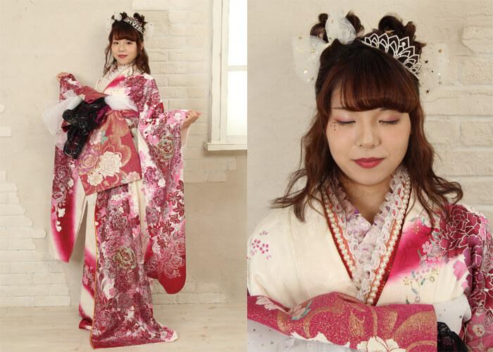 振袖 ファッションショー 花魁 お引きずり 前帯 織姫